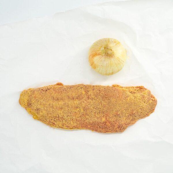 Cachopo cebolla caramelizada y queso azul