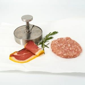 Hamburguesa de pollo y jamón de Teruel
