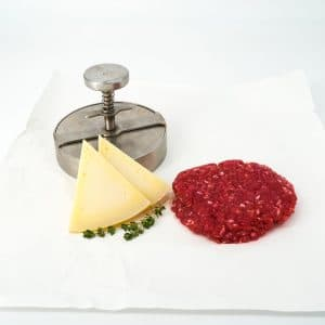 hamburguesa blonda y queso gouda